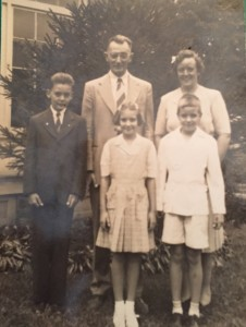 Norman Zercher, 8, bottom right with his sister Morjorie, bottom middle, 8, and his brother Wilson, bottom left, 11.