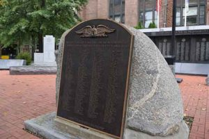 Photo of Bridgeport WWI Monument in downtown Bridgeport, Conn. Photo by Sherly Montes.