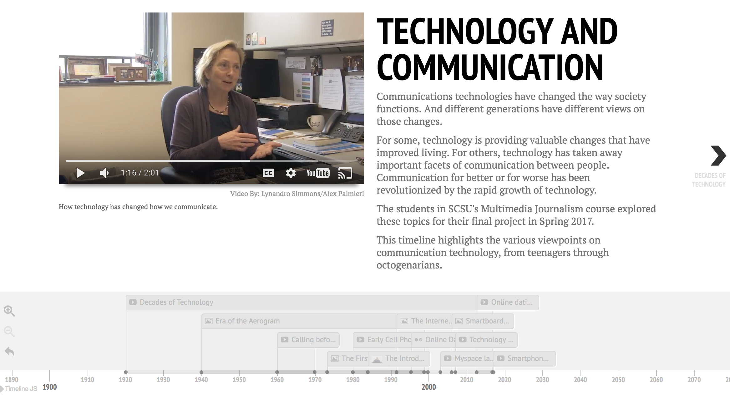 A lifetime of change in communication technology