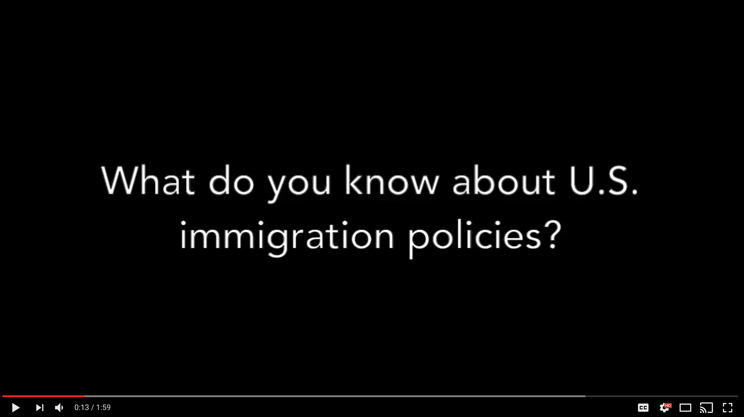 Southern students on U.S. immigration
