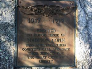 Madison monument bronze plaque