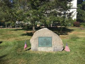 North Branford's boulder monument dedicated to soldiers who fought in World War 1.