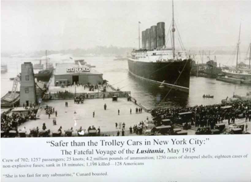 Connecticut residents among those killed on the Lusitania