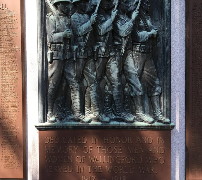 Wallingford WWI monument honors French flying ace, among veterans