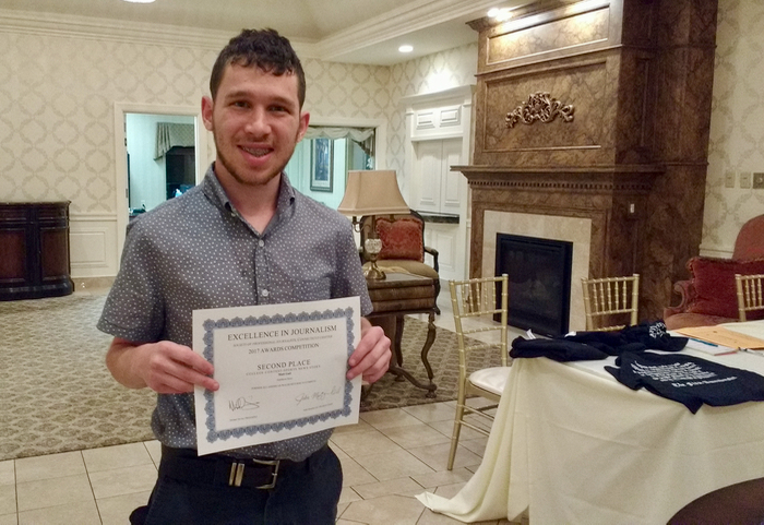 SCSU Journalism faculty and student receive awards