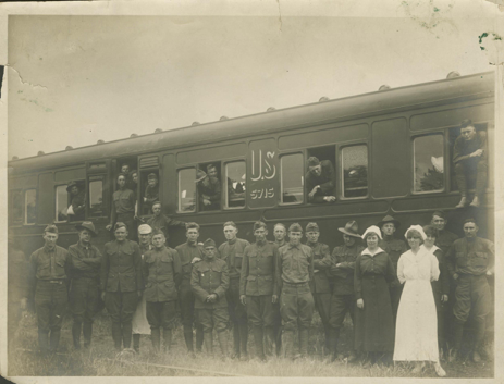 Physician treated soldiers post-armistice on hospital train