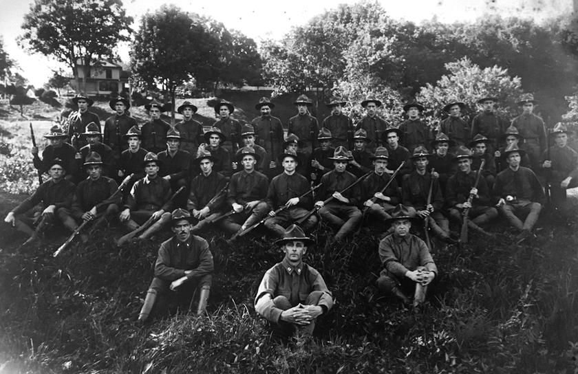 Home Guard patrols helped out in Connecticut during WWI